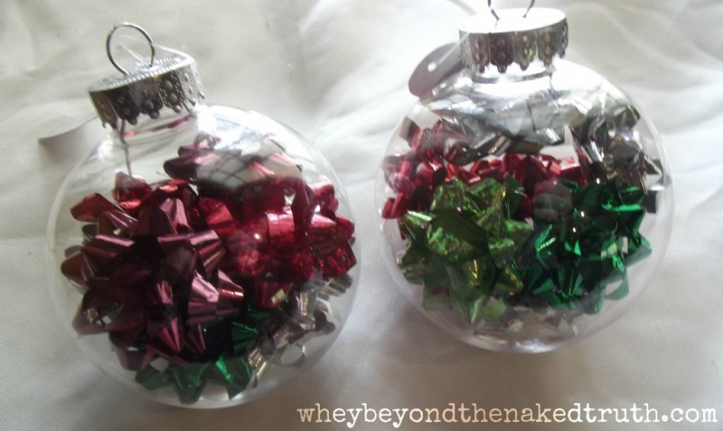 4 Creative Ideas for Decorating and Filling Clear Glass Ornaments