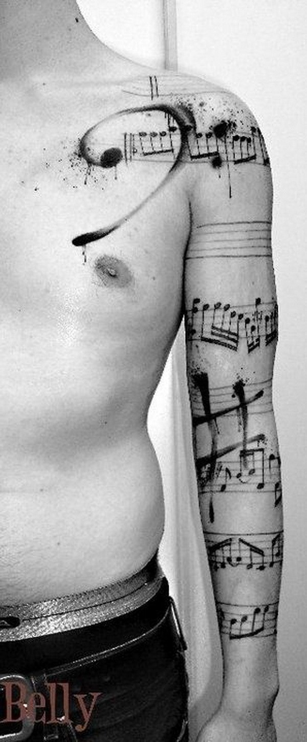 1 Different Types of Musical Signs on Arm