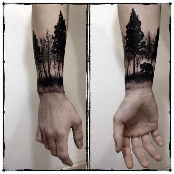 1 Forest Forearm Tattoo for Men
