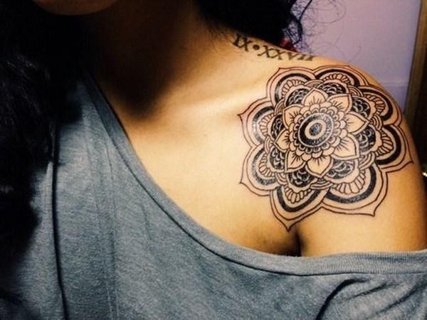 12 Shoulder Mandala Tattoo for Women