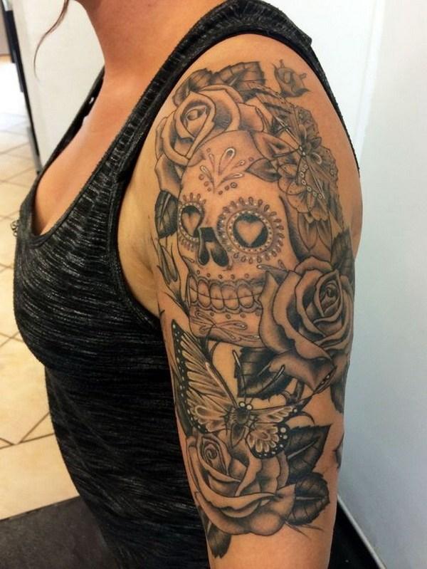 12 Sugar Skull Candy Tattoo for Women