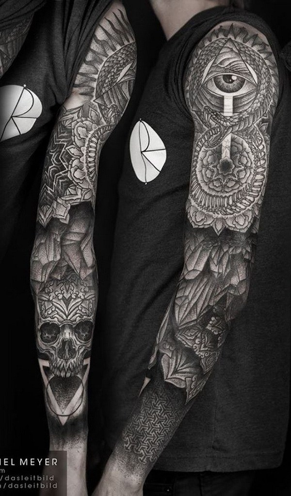 16 Full Sleeved Mandala Tattoo