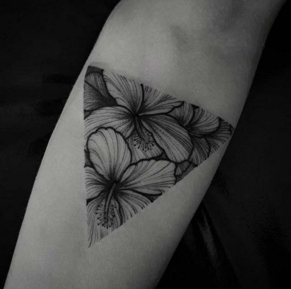 17 Simple Floral Tattoo on Forearm