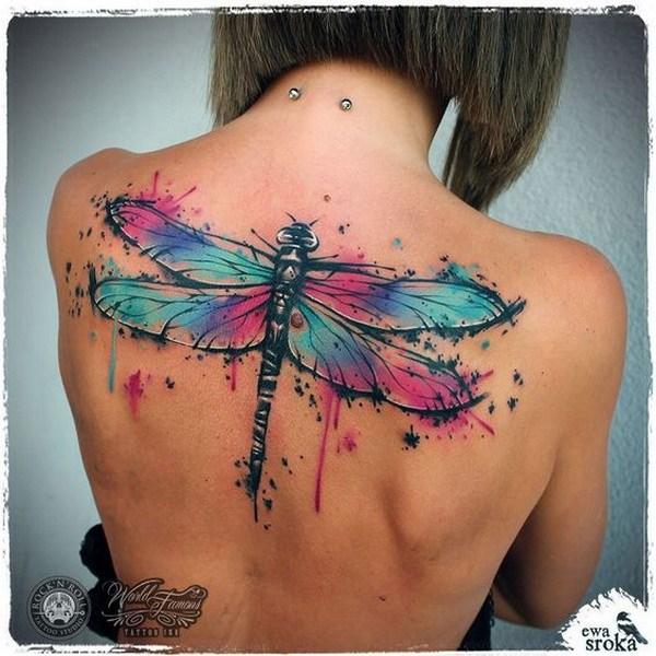 22 Dragonfly Back Tattoo