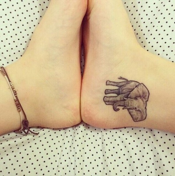 23 Elephant Ankle Tattoo
