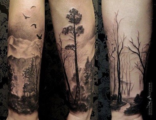 23 Nature Themed Half Sleeve Tattoo