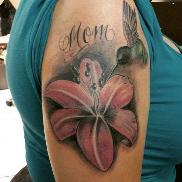 35 Memorial Lily Sleeve Tattoo