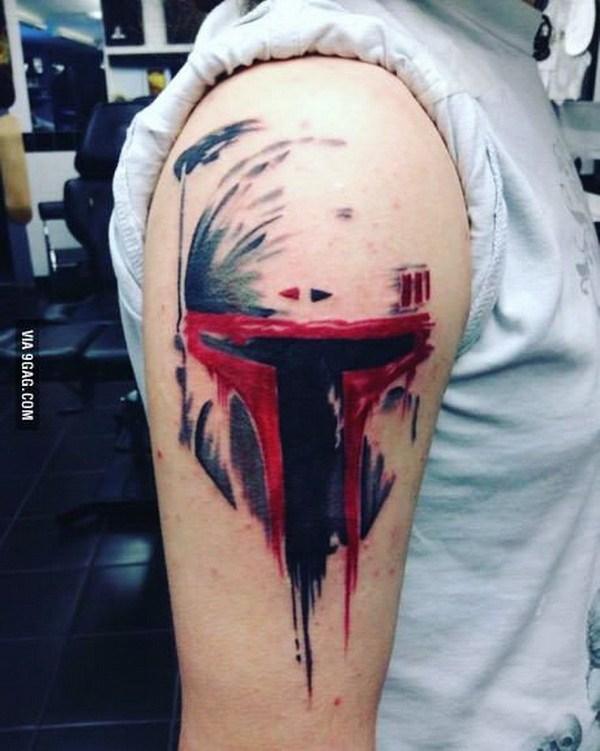 38 Boba Fett Shoulder Tattoo