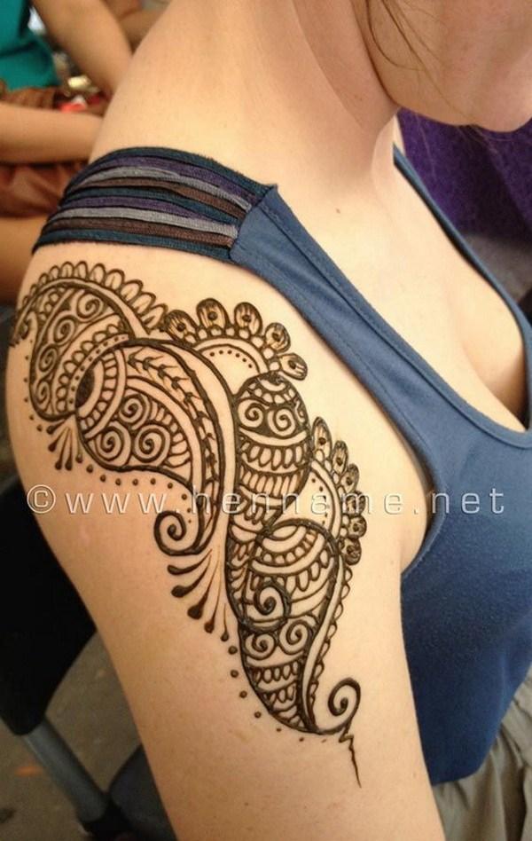 39 Stunning Shoulder Henna Tattoo
