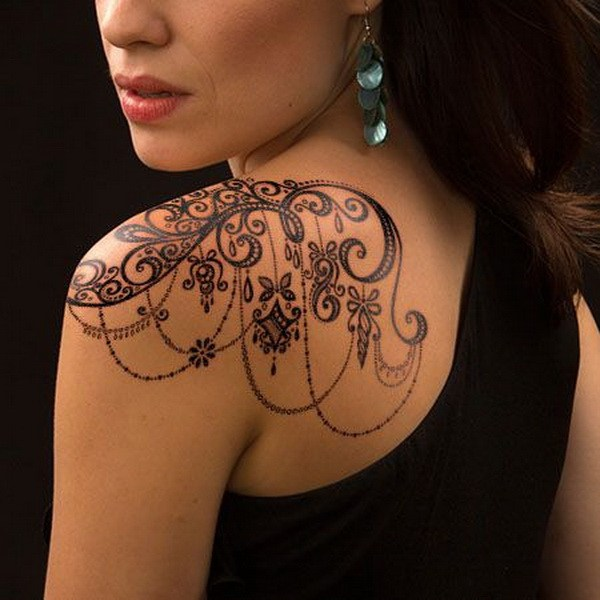5 Lace Shoulder Tattoo for Women
