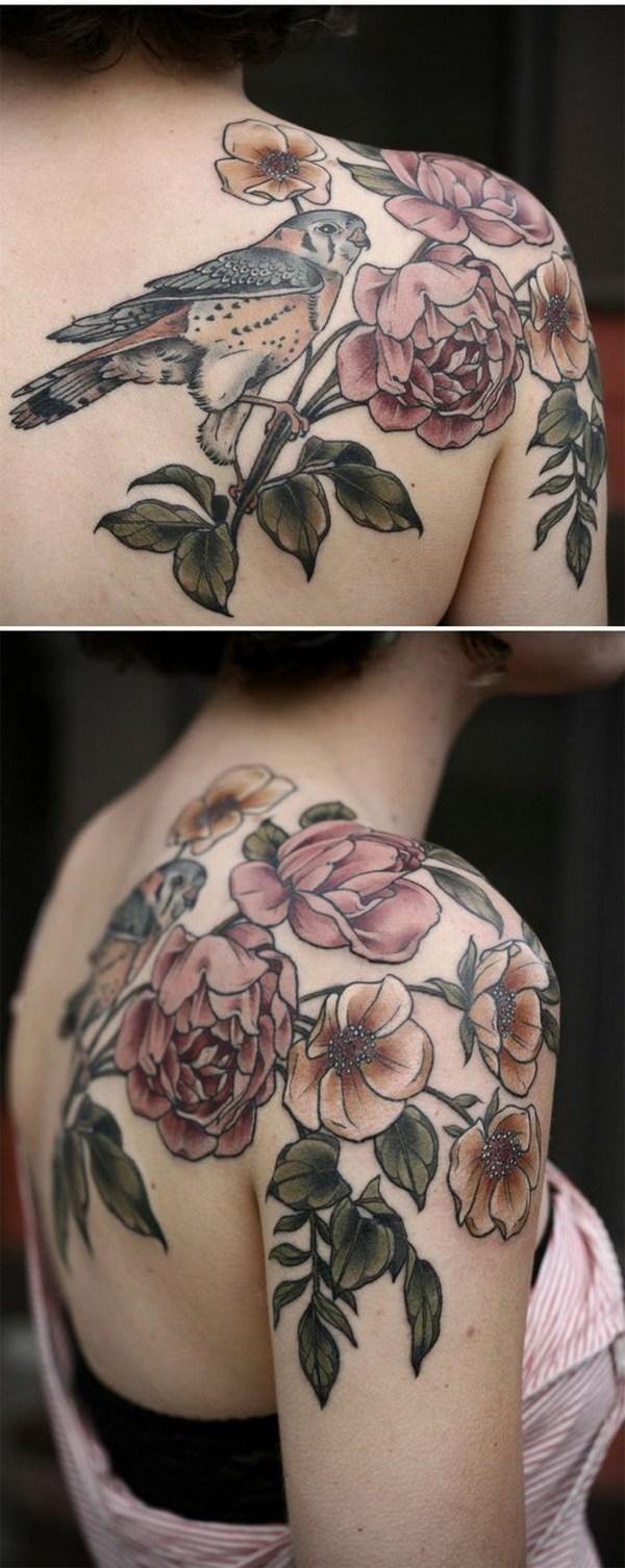 6 Amazing Rose Tattoo on Shoulder