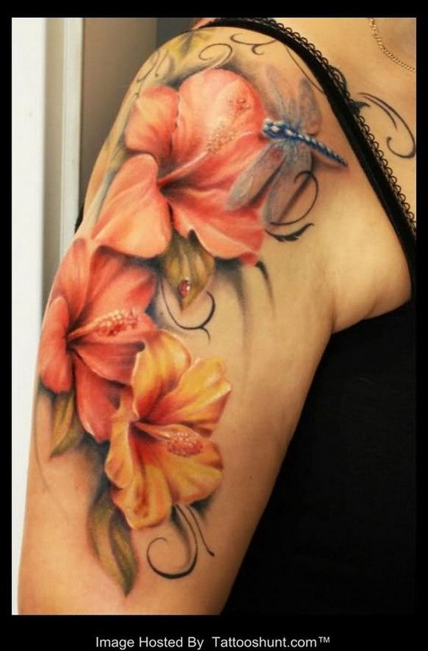 6 Lily Flower Tattoo