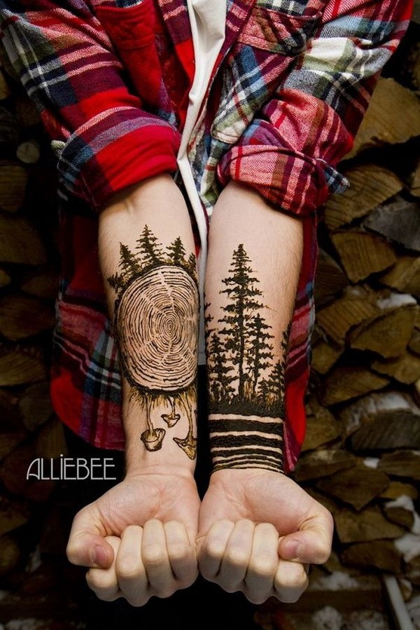 7 Forest Forearm Tattoo