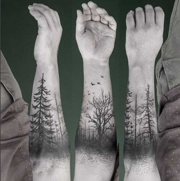 8 Forearm Tree Tattoo