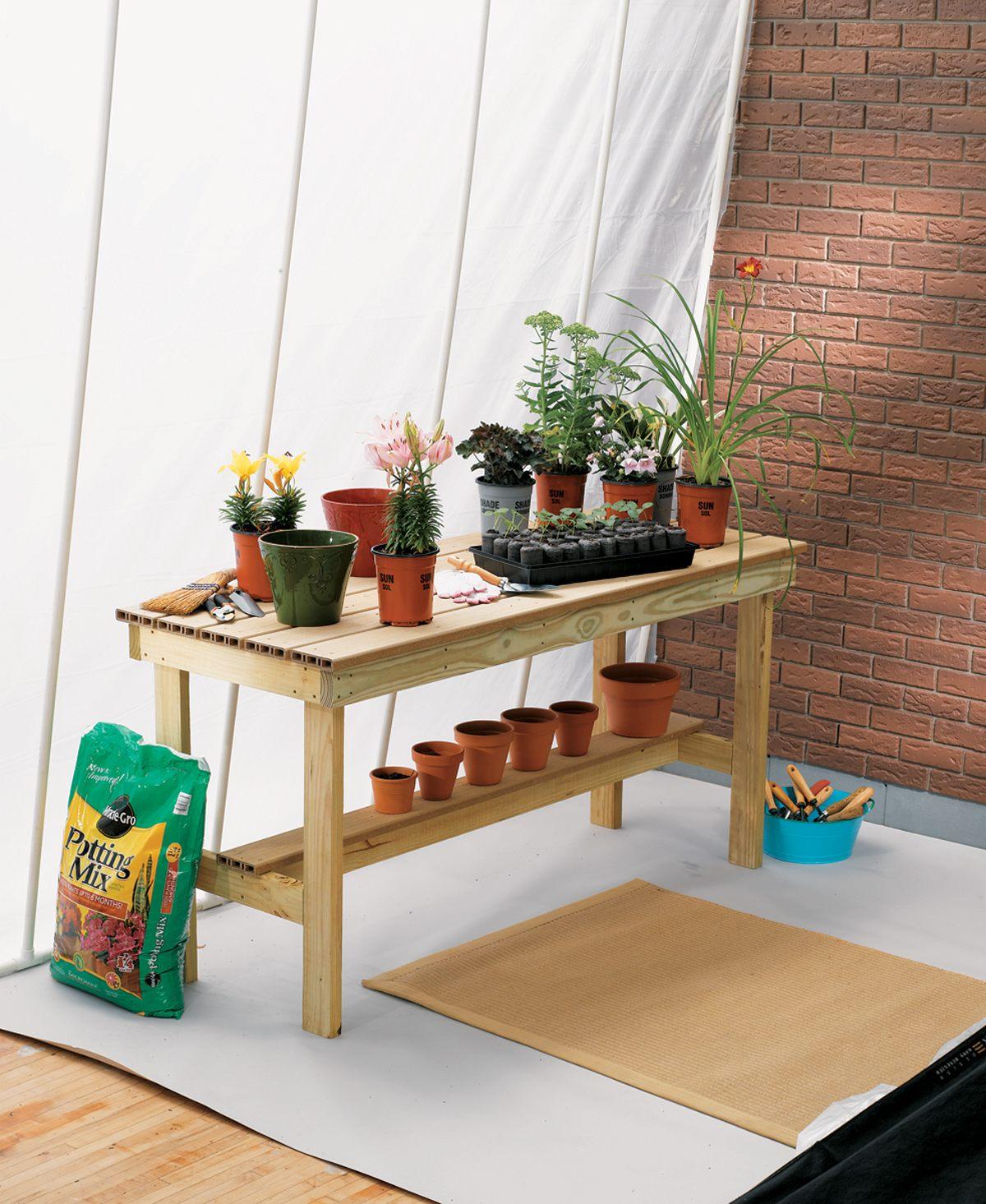11 DIY Potting Bench Ideas To Make Gardening Work Easier