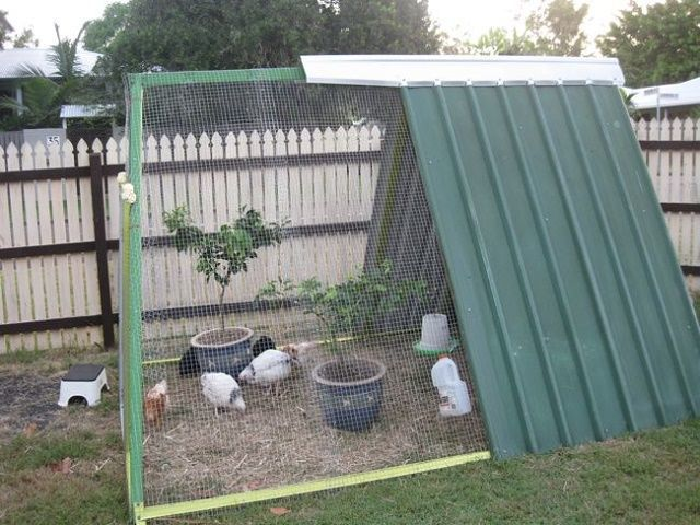 25 Turn a Swing Set Into an Upcycled Chicken Coop