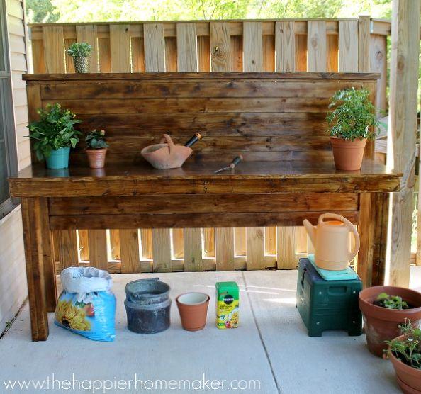 6 DIY Potting Bench Ideas To Make Gardening Work Easier