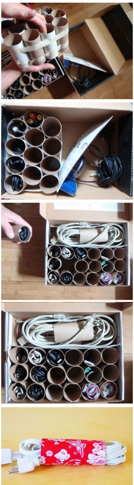 6 DIY Cord Organizers That Will Keep Your Home Clean