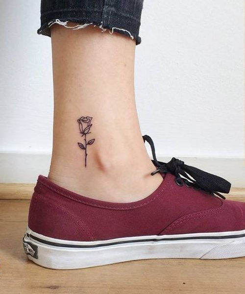 10 Tiny Ankle Tattoos That You Can Copy