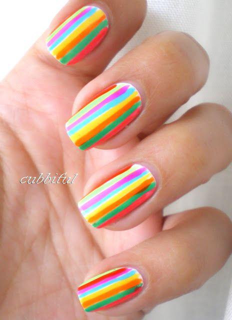 18 Charming Multicolor Simple Nail Art Designs