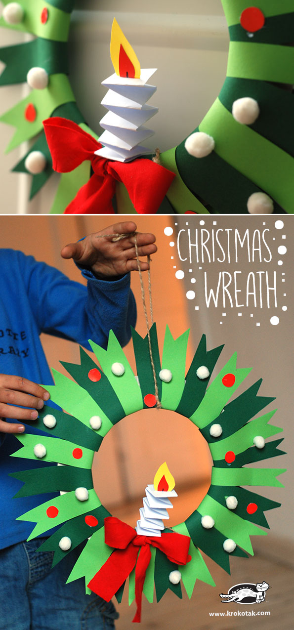 27 Paper Plate Christmas Wreath