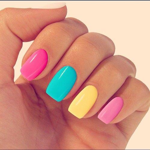 32 Charming Multicolor Simple Nail Art Designs