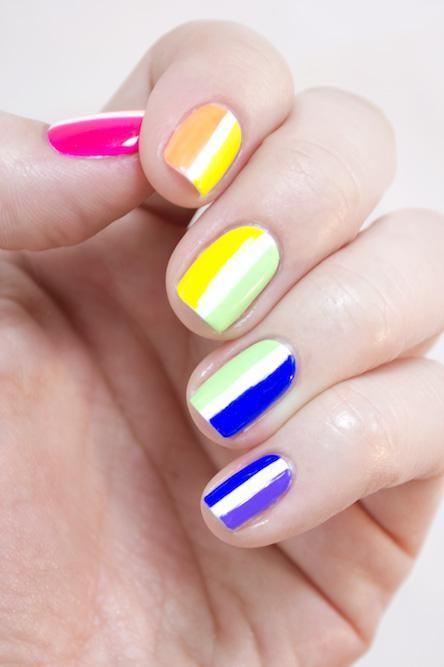 39 Charming Multicolor Simple Nail Art Designs