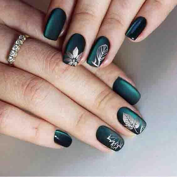 30 Best Diy Wedding Decorations: 15 Elegant Emerald Green Nails Designs For You