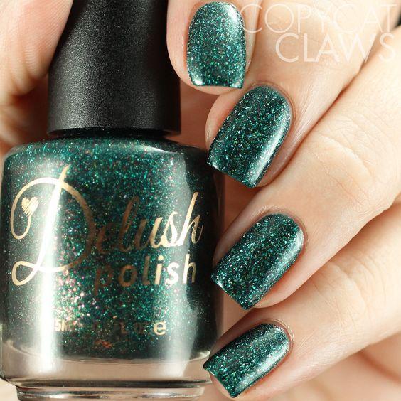 Elegant Emerald Green Nails Designs For You 11