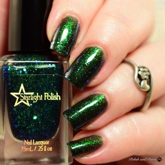 Elegant Emerald Green Nails Designs For You 13