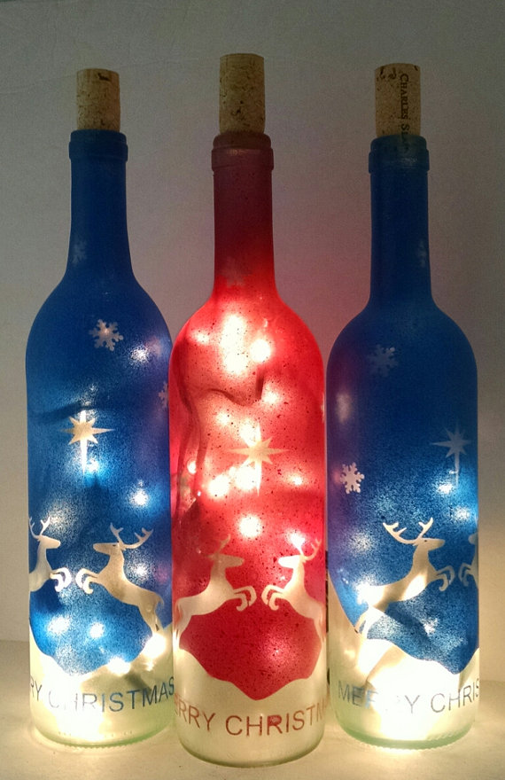17 Wine Bottle Christmas Craft Ideas