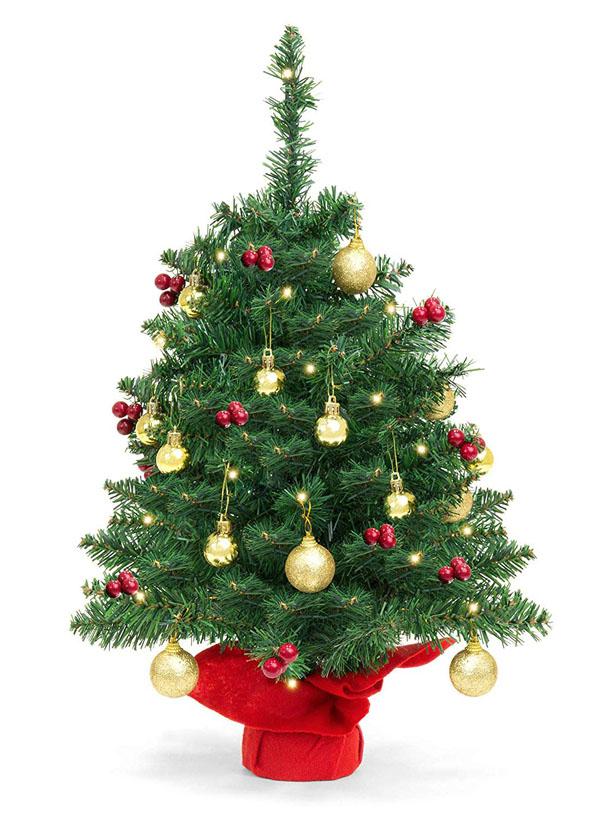 18 Mini Artificial Christmas Tree