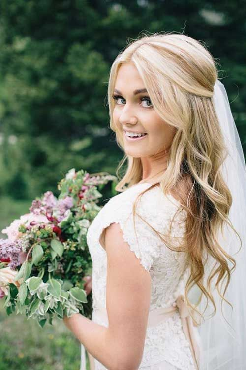 18 Most Trendy Wedding Hairstyles Inspiration for Bride