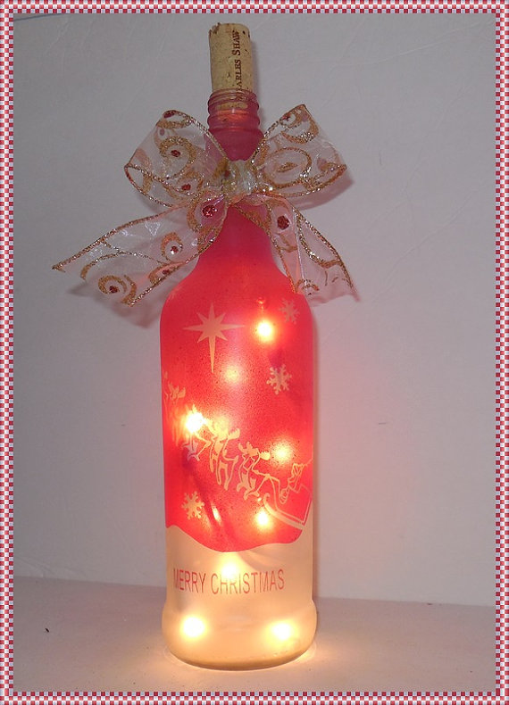 18 Wine Bottle Christmas Craft Ideas