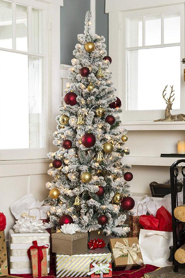 19 Snow Flocked Christmas Pencil Tree