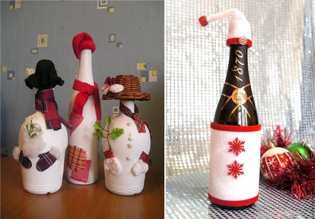 23 Wine Bottle Christmas Craft Ideas