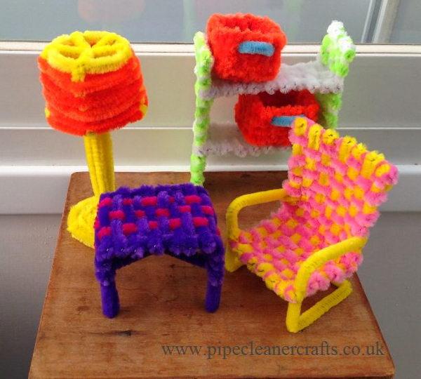 23 furniture-pip-cleaner-crafts