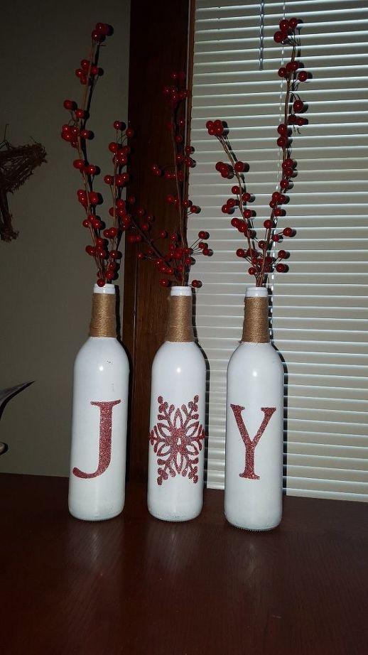 24 Wine Bottle Christmas Craft Ideas