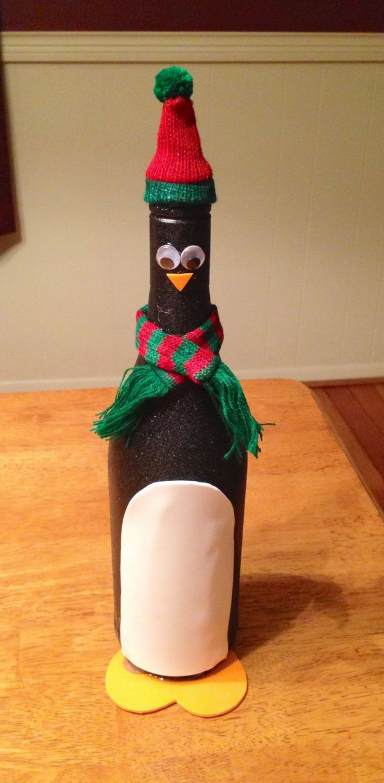 26 Penguin Wine Bottle