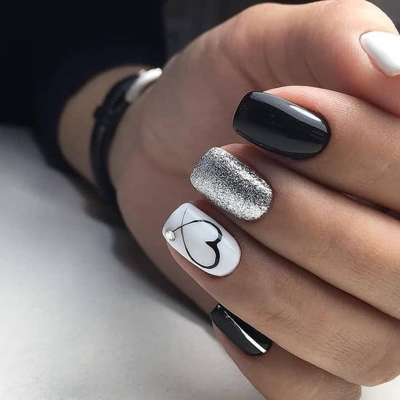 27 valentines nails