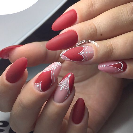 28 valentines nails