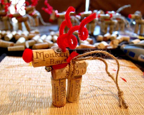 29 Wine Cork Reindeer