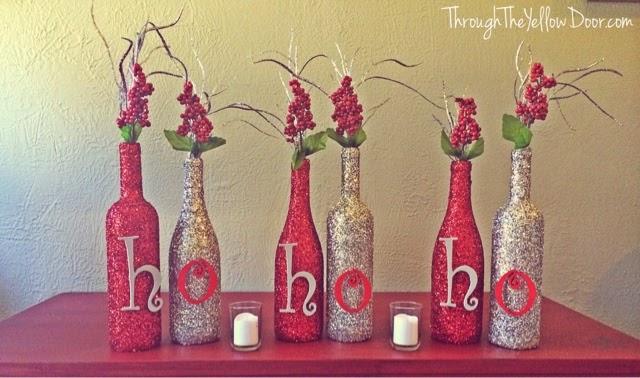 3 Wine Bottle Christmas Craft Ideas