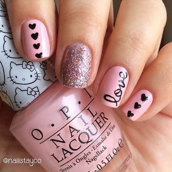 31 valentines nails