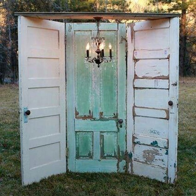 36 Upcycled Door Outdoor Photo Booth