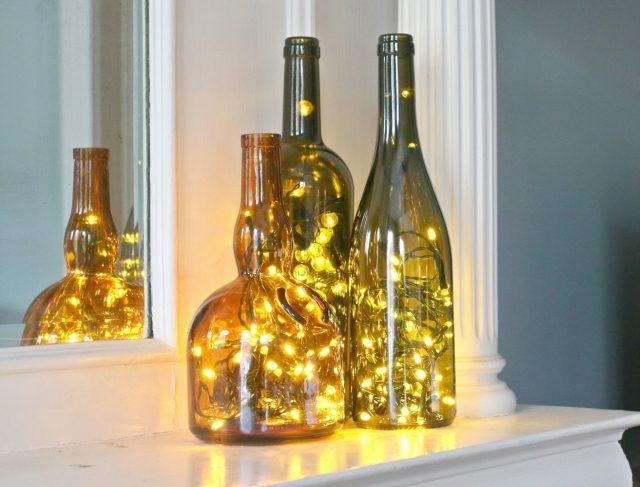 4 Wine Bottle Christmas Craft Ideas