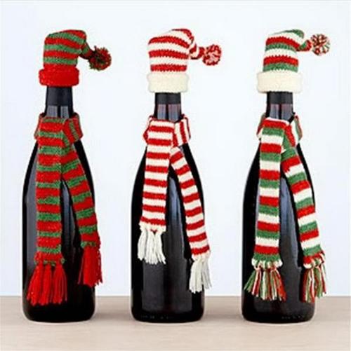 5 Wine Bottle Christmas Craft Ideas