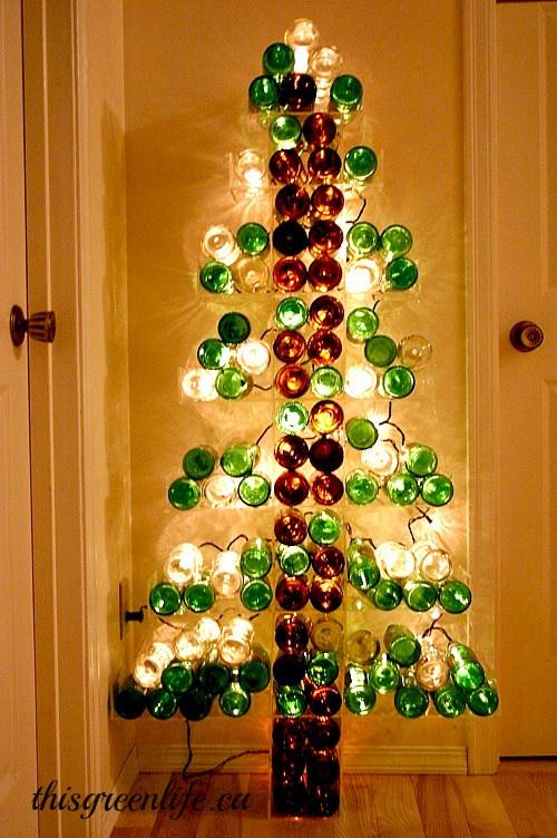 6 Wine Bottle Christmas Craft Ideas