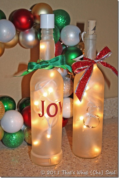 7 Wine Bottle Christmas Craft Ideas
