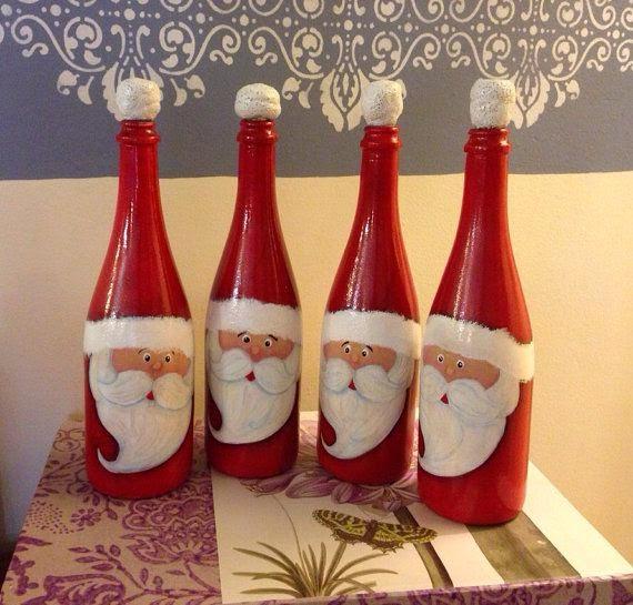 8 Wine Bottle Christmas Craft Ideas